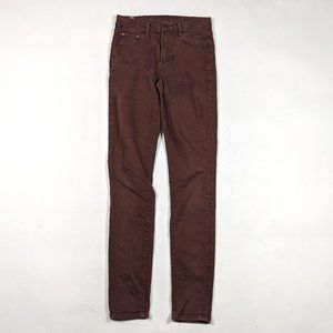 COH Rocket High Rise Skinny Size 26 Maroon Jeans